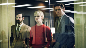 Scoot McNairy, Mackenzie Davis and Lee Pace in Halt and Catch Fire: Season One.