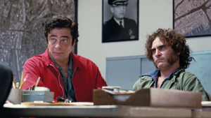 Benicio Del Toro and Joaquin Phoenix in Inherent Vice
