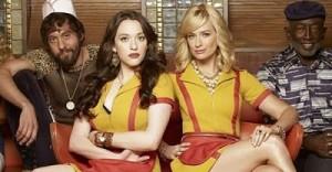 Kat Dennings and Beth Behrs in 2 Broke Girls