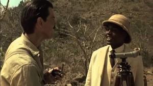 Pierce Brosnan and Maynard Eziashi in Mister Johnson