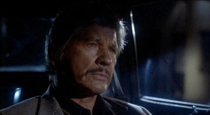Charles Bronson hunts down a killer in 10 To Midnight.