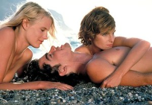 Daryl Hannah, Peter Gallagher and Valerie Quennessen in Summer Lovers