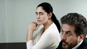 Ronit Elkabetz and Simon Abkarian in Gett: The Trial of Viviane Amsalem