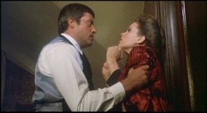 Oliver Reed comes to grips with Karen Black in Burnt Offerings
