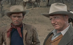 Robert Wagner and Spencer Tracy in Broken Lance