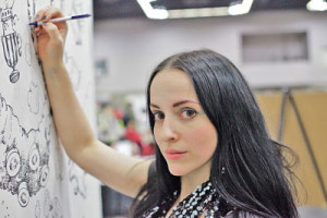 Molly Crabapple gets to work in Sex in the Comix