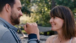 Jake Johnson and Rosemarie DeWitt in Digging for Fire