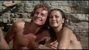 Lynda Carter and Marjoe Gortner in Bobbie Jo and The Outlaw