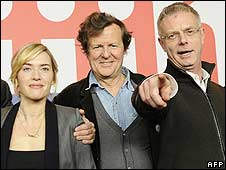Kate Winslet, David Hare and Stephen Daldry of The Reader