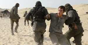 Dylan O'Brien gets carried away in Maze Runner: The Scorch Trials