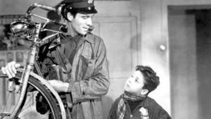Lamberto Maggiorani (l.) and Enzo Staiola in De Sica's Neo-realist classic Bicycle Thieves