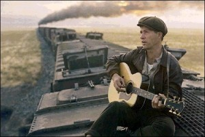 David Carradine is Woody Guthrie in Bound for Glory