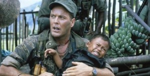 Wings Hauser takes charge of the situation--and a Vietnamese kid--in The Siege of Firebase Gloria.