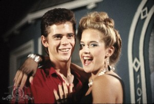 C. Thomas Howell and Kelly Preston in Secret Admirer
