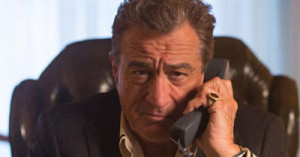 Robert De Niro means business as a gangster who's casino is robbed in Heist.