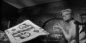 Angela Lansbury is the ruthless Queen of Diamonds in The Manchurian Candidate.