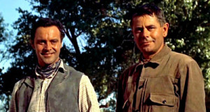 Jack Lemmon and Glenn Ford in Cowboy