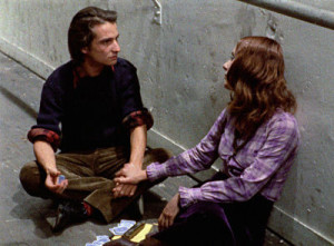 Jean-Pierre Léaud and Bernadette LaFont in Out 1.