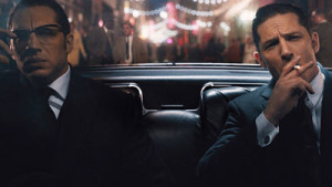 Tom Hardy plays twin brothers Reggie and Ronnie Kray in Legend
