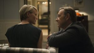 Kevin Spacey and Robin Wright get political in House of Cards