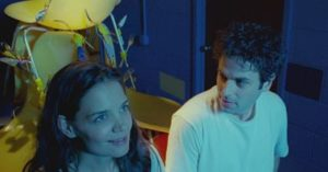 Katie Holmes and Luke Kirby are blue in Touched with Fire.