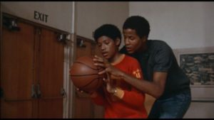 """Fourteen-year-old Laurence Fishburne, in his first film, and Jamaal """"Silk"""" Wilkes in Cornbread, Earl and Me."""