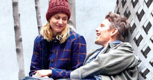 Greta Gerwig and Ethan Hawke in Maggie's Plan
