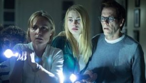 Radha Mitchell, Lucy Fry and Kevin Bacon confront The Darkness