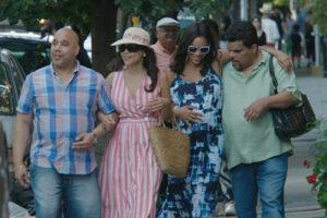 Edgar Garcia, Rosie Perez, Rosario Dawson and Luis Guzman in Puerto Ricans in Paris