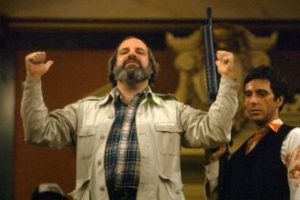 Brian De Palma directs Al Pacino and his little friend in Scarface