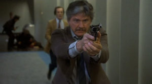 Charles Bronson takes aim in Murphy's Law