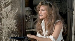 Raquel Welch is out for revenge in Hannie Caulder.