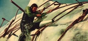 Gregory Peck takes on his obsession in Moby Dick
