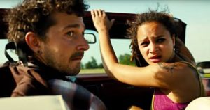 Shia Lebouf and Saswha Lane in American Honey
