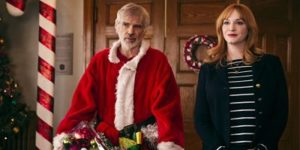 Billy Bob Thornton and Christina Hendricks in Bad Santa 2.