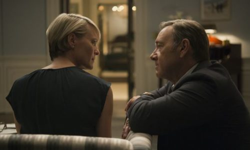 Kevin Spacey and Robin Wright get political in the fifth season of the popular Netflix drama--now available!