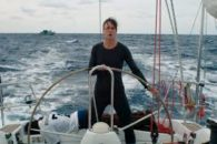 Parabolic tale of woman sailing the Mediterranean who comes to the aid of shipwrecked refugees.