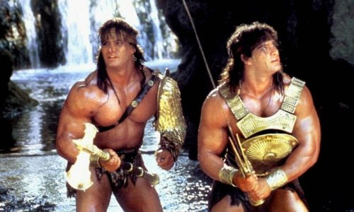 The delightfully bad (and beloved!) sword-and-sorcery B movie starring The Barbarian Brothers arrives next week!